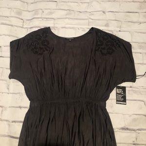 Express Grey with embellished shoulder dress.